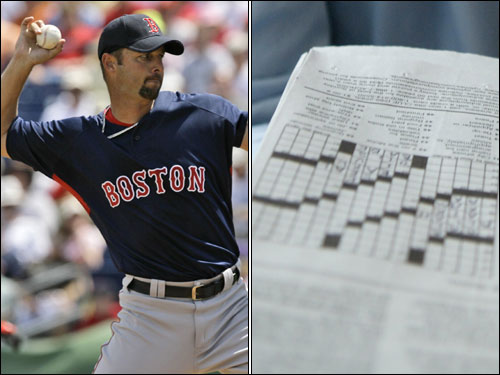 Knuckleballer Tim Wakefield plays mind games. ''I do a crossword puzzle a day, or at least I try to,'' says Wakefield. ''I don't always finish. I didn't start that till I got here in '97-98.''