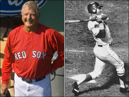 Forty years since the 1967 Impossible Dream season elevated baseball to sacred cow status in Boston, the 67-year-old Yaz is asked about superstitions. The greatest living Red Sox reveals that for seven years he never changed his red socks. ''I think I wore them from the start of '67 to '73,'' says Yaz, breaking out that infectious grin. ''The red socks. They had a big hole in 'em and everything else, but I wouldn't change 'em. I kept wearing them and wearing them and wearing them.''