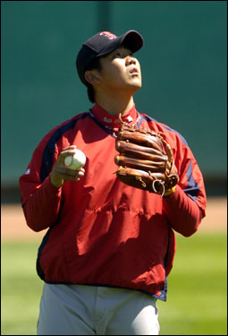 The Red Sox will give the ball to Matsuzaka Thursday for his first major league start.