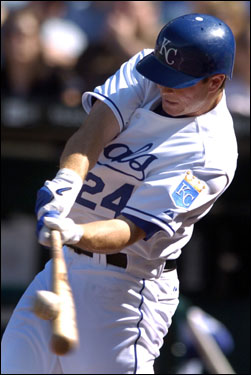 The Royals' Mark Teahen hit a single off of Sox starter Curt Schilling in the first inning.