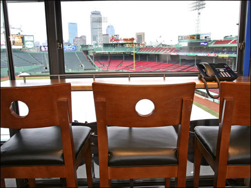 A new private suite at Fenway Park offers a bird's-eye view of the ballpark.
