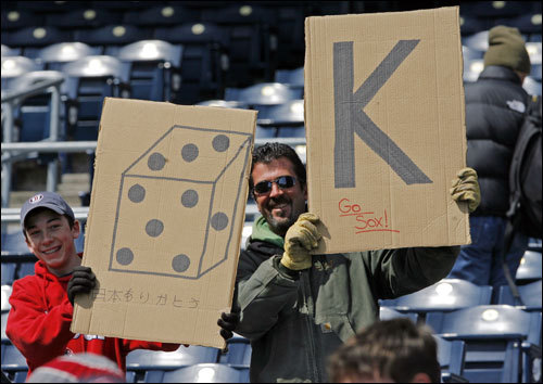 Sox fans were out in force to cheer on Dice-K.