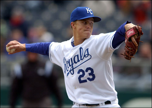 Zack Greinke started for the Royals.