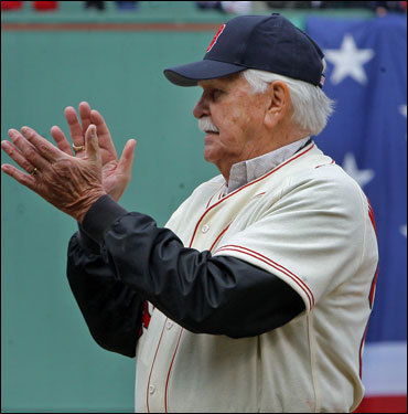Dick Williams, manager of the 1967 team, applauded the festivities.