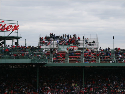 A view of Conigliaro's Corner from afar. Call them the bleachers in the sky.