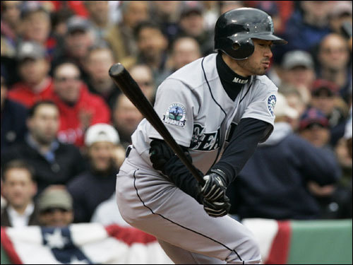 Ichiro Suzuki struck out to lead off the game for the Seattle Mariners.
