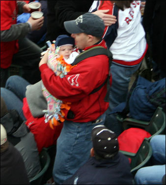 It was a cold first game for this little Red Sox fan.