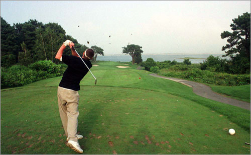10. 4th hole at Farm Neck Golf Club on Martha's Vineyard Cam Neely, former Boston Bruin and now, avid golfer, says this par 3 is 'a hole that can make or break your front-side score.' The hole plays 116 to 175 yards. Neely says the view is spectacular, with Sengekontacket Pond just beyond the green and Vineyard Sound in the background. His recommendation: 'Anything left is trouble, long is gone, and right is either unplayable or out of bounds' because of a marsh.