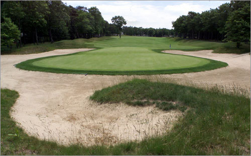 11. 9th hole at The Ridge Club in Sandwich Jane Blalock, winner of 26 LPGA Tour events and a Portsmouth, N.H., native, says a bunker protects this par 4 on the left side of the fairway, and when you get to the green it is long and narrow. The hole plays from 312 to 415 yards. Blalock says 'It challenges you to carry the bunker [down the left], but encourages you to take the safer shot to the right-center of the fairway.' Her recommendation: Play a slight draw off the tee, avoiding that bunker whatever you do.