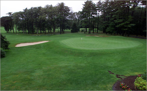 14. 18th hole at Marshfield Country Club in Marshfield Geoff Sisk, a two-time State Open champ and Marshfield native, says this par 4 is 'a great finishing hole. No lead is safe coming into the 18th.' The hole plays as long as 406 yards and the green is elevated. Sisk says 'It's fun because of the challenge.' His recommendation: Keep in mind that the green is undulating and sneaky fast, from back to front. Therefore, your approach must star below the pin -- and on the same side of the green.