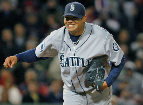 Wednesday was Dice-K's night, but the spotlight was stolen by Mariners pitcher Felix Hernandez. He pitched a one-hit shutout (he lost a no-hitter in the eighth) to beat Dice-K and the Sox.