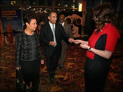 DAY 100 — Governor Deval Patrick and his wife, Diane, went for their Friday date to a movie, 'The Namesake,' in Boston. Patrick said that he is still surprised at the scrutiny he receives in his private life.