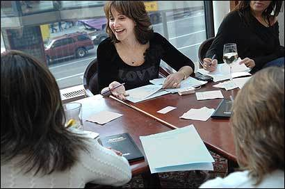 Janis Spindel, a New York matchmaker, interviewed prospective brides for a $100,000 client Friday.