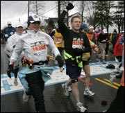 Scenes from the Marathon: Hopkinton