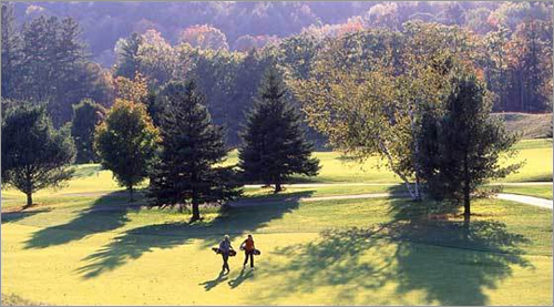 Okemo Mountain Resort and Golf Club , Ludlow, Vt. New England's first heathland-style course is a tough championship-ready par 70 jaunt through Vermont. The pros love it, too. Okemo has played home to the Vermont PGA Championship.