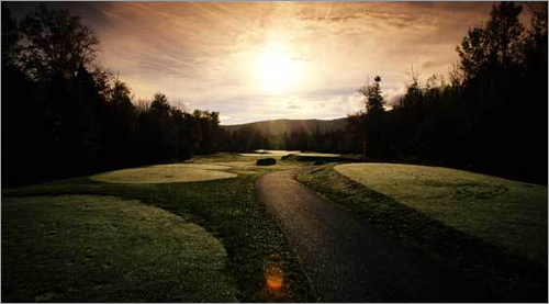Sugarloaf , Carrabassett Valley, Maine Before you even step foot onto Sugarloaf's course, you can take a tour online . See why the course has been named the top golfing experience in Maine every year since 1985.
