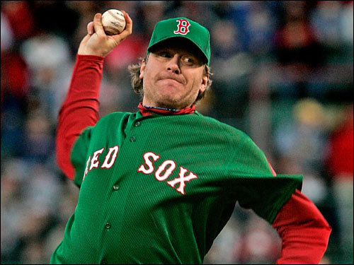 Curt Schilling made the start for the Red Sox looking for his third win of the season.