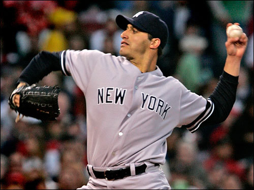 Andy Pettitte made the start for the Yankees.