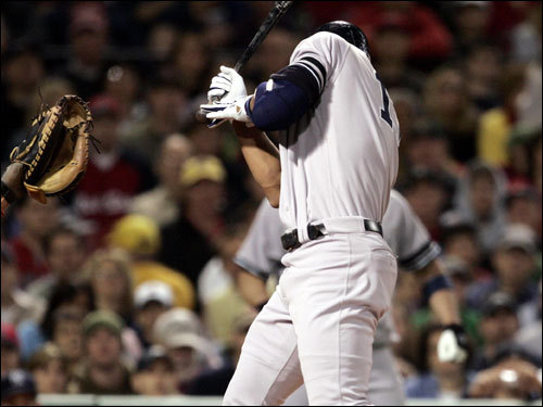 Alex Rodriguez couldn't avoid being hit by a pitch in the first inning.