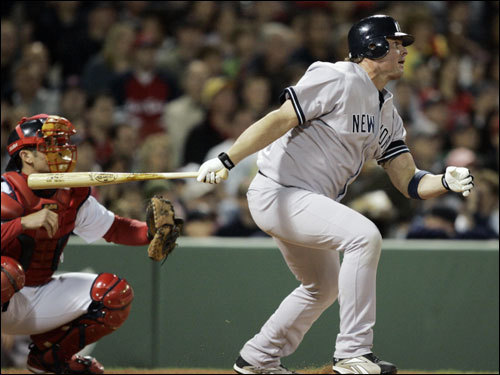 Jason Giambi stroked a two-run double in the first inning.