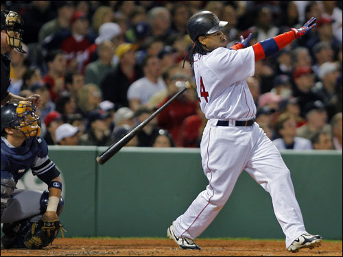 Ramirez dropped his bat as he watched his solo home run sail over the left center field wall and out of Fenway Park.