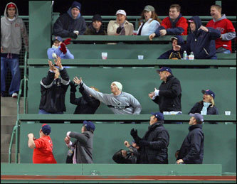 "The Green Monster Seats at Fenway Park If you want a unique experience at Fenway Park, few can argue that the seats above the Green Monster, affectionately known as the ""Monsta seats,"" are the best choice. Right before the 2003 season, these barstool seats were added to the 37-foot wall in left field and hang above Landsdowne Street. The seats are 310 feet from home plate. If you are lucky enough to nab tickets, this section has its own concession stand and bathroom. If you turn yourself around in your barstool seat, you can enjoy the panoramic view of Boston right behind you. In the front row? Expect to not only get a close up view of Manny Ramirez, but also to hear him as he attempts to catch a fly ball in the outfield. These pricey tickets will run you about $140, and they're difficult to find."