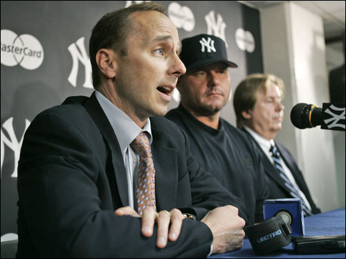 Clemens met the press afterward and told reporters, 'Make no mistake about it, I've come back to do what they only know how to do here with the Yankees, and that's win a championship. Anything else is a failure, and I know that.'