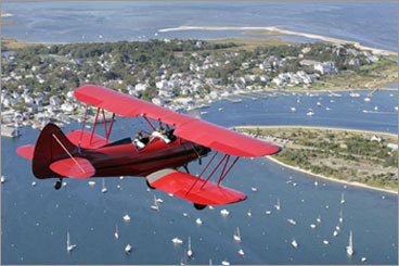 At Katama Airfield in Edgartown (not shown), one can buy ticket for a biplane ride along the scenic coast of the island.