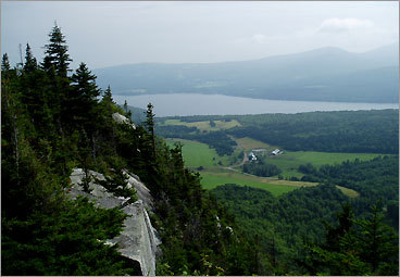 The view from Eagle Cliff, on Wheeler Mountain: Lake Willoughby and the Northeast Kingdom