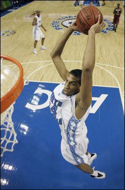 Height: 6 feet 10 inches Weight: 210 lbs School: North Carolina Class: Freshman Wright is a mobile big man whose athleticism is more polished than his overall game. He runs the floor well and cleans up on the glass. His offensive game is limited, and he may have trouble defending power forwards in the NBA. Wright could be a good fit on the Celtics as a slightly more athletic, though less reliable, version of Ryan Gomes.