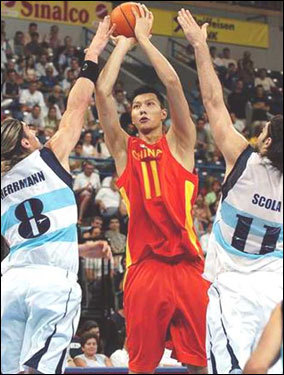 Height: 7 feet Weight: 230 lbs Country: China Supposedly a favorite of Danny Ainge, Yi Jianlian has more of an outside game than his size would indicate. He has a range on his jump shot of 18-20 feet and can take his man off the dribble. His body is a concern, as it may limit what position he can defend in the NBA. As of now some threes might give him trouble in the post. Yi could become the best player in this draft not named Oden or Durant, but Ainge and Doc Rivers don't have the three years or more it will take to watch him develop.