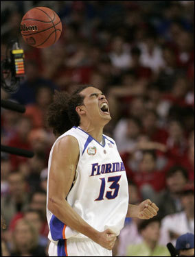 Height: 6 feet 11 inches Weight: 230 lbs School: Florida Class: Junior Noah would have been the No. 1 pick in the 2006 NBA Draft had he come out. He chose to spend another year at Florida and win another national champipnship. He is an extremely mobile, active big man with great quickness and feel for the game. He wears his emotions for the game on his sleeve. Noah would be a solid fit on the Celtics alongside Al Jefferson, although he would not be the defensive answer the for the Celtics in the middle.