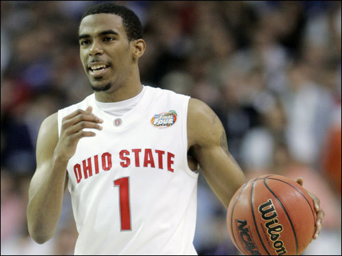 Height: 6 feet 1 inch Weight: 180 lbs School: Ohio State Class: Freshman Conley is the best point guard in the 2007 draft class. As a freshman, he led Ohio State to the Final Four with great ballhandling, solid passing, and good shooting. If the Celtics are serious about developing Rajon Rondo, Conley simply doesn't fit into their plans.