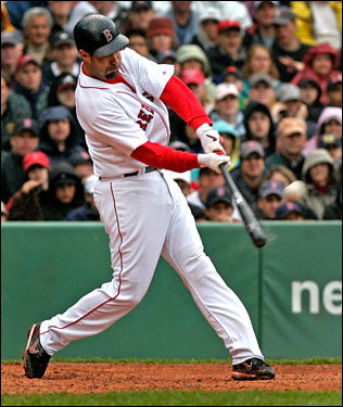 Mike Lowell connected on a grand slam in the fifth inning.