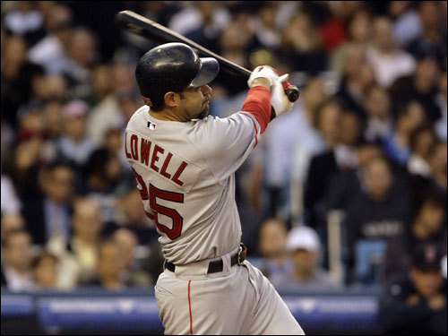 Mike Lowell connected for a solo home run in the fourth inning off of Mike Mussina.