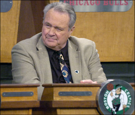 Tommy Heinsohn reacted to the news that the Boston Celtics, who held the NBA's second-worst record, will be picking fifth in the 2007 NBA Draft. The Celtics had only a 12.3 percent chance of drawing the fifth pick, their longest shot of the lottery.