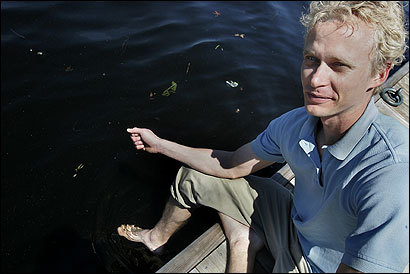 Frans Lawaetz, founder of the Charles River Swimming Club, is hoping the race is not thwarted by a repeat of last summer's overabundance of blue algae blooms.
