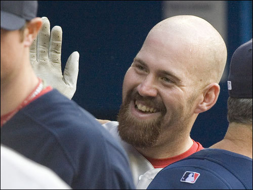 Youkilis went 3 for 3 with a solo home run against the Blue Jays in Toronto. He raised his average to .306 with the performance and hasn't been below .300 since.