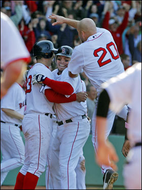 The game will be remembered for the improbable comeback capped by Julio Lugo, but the comeback never would have happened had Youkilis not been where he usually is in the ninth inning: on base. Youkilis went 1 for 3 with a walk and scored on the final play of the game.