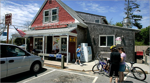 The Pleasant Lake General store in Harwich is a convenient spot to take a break.
