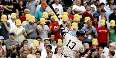 The blond-haired crowds were in force as Rodriguez took his warm-up swings in the first inning. He would walk and score on a Robinson Cano home run.