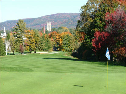 "Taconic Golf Club Meacham Street Williamstown, Mass. 413-458-3997 18-hole rate: $30-$145 Reader comments : ""The grounds are beautiful, there are some great views, and it's rarely crowded."" Our take : This beautiful sprawling course on the Williams College campus provides 18 holes composed of gentle slopes, tree-lined fairways, and complete serenity."