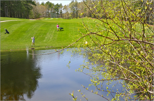 Rowley Country Club 235 Dodge Rd. Rowley, Mass. 978-948-2731 18-hole rate: $32-$36 Our take : It's not too pricey for the quality of golf at Rowley, and even better, games of nine holes tend to stay in the $17-19 range.