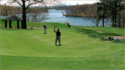 Gannon Municipal Golf Course 60 Great Woods Rd. Lynn, Mass. 781-592-8238 18-hole rate: $30-$42 Our take : Don't be fooled by the name, particularly the 'municipal course' part, which most other courses omit. This place has a storied history in Lynn, dating back to its construction in 1929, and plays like a serious course.