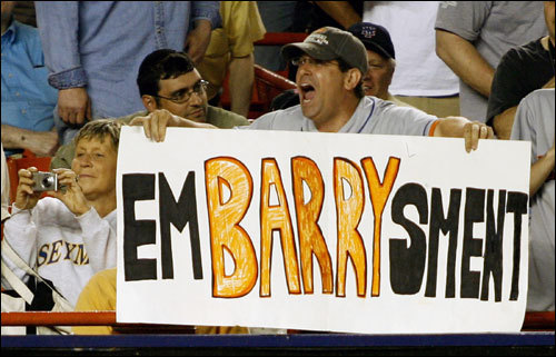 You could make a sign that utilizes clever puns (is there any other kind?) to let Barry know just how you feel.