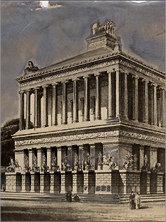 6. The Mausoleum of Halicarnassus Standing about 140 feet high, the Mausoleum was a tribute to the king Maussollos. Built in present-day Turkey by the Persians, the structure included a sprawling array of statues that added glamour to beauty, some of which survived and are on display in the British Museum in London. The term mausoleum was coined by this project. Crusaders destroyed the mausoleum.