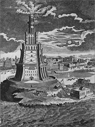 The Lighthouse of Alexandria Since it no longer exists, it's difficult to