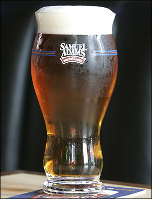 New Sam Adams beer glass