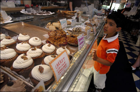 Ahmad Tirmizi checks out the offerings at Amy's Bakery Arts Cafe.