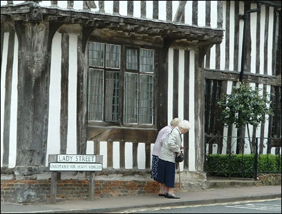 The Swan Hotel in Lavenham combines three 15th-century houses in a historic British inn.